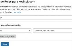Ativando cache de html no cloudflare - page rule html cache